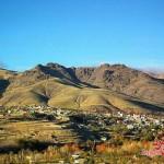 دورنمای روستای رزجرد، جنوب به شمال