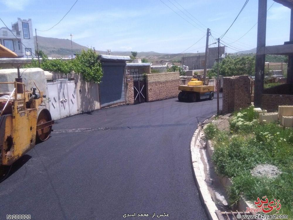 آسفالت ریزی خیابان بابایی (بهداری) رزجرد - تصویر 1