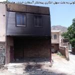 آتش سوزی منزل مسکونی به علت سهل انگاری پیمانکار آسفالت خیابان